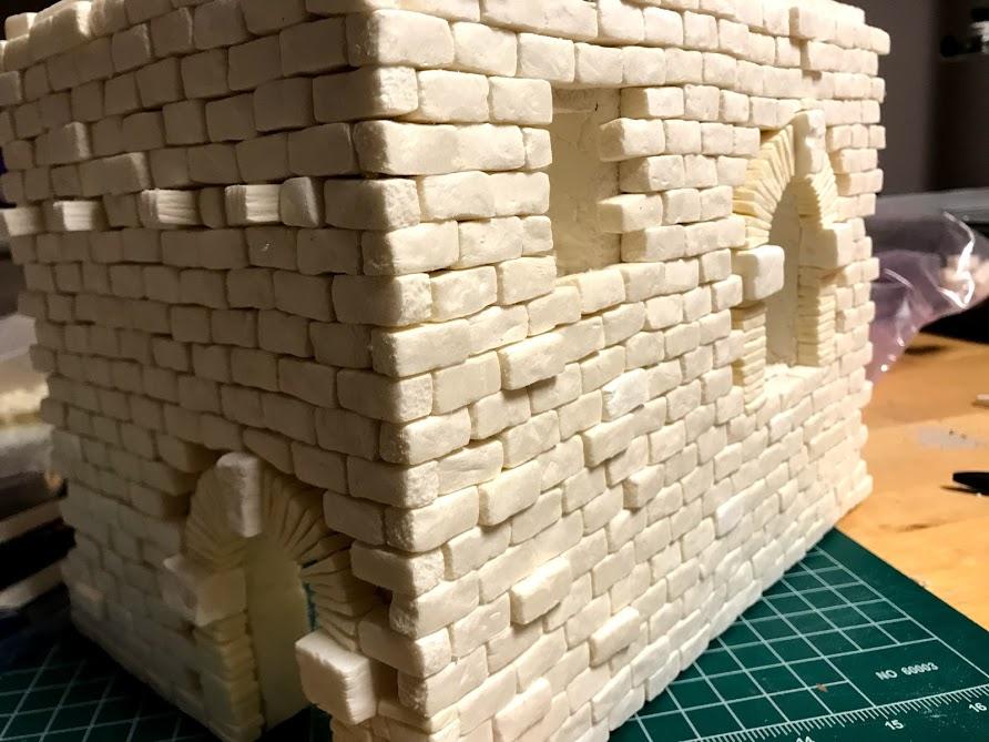 Tutorial costruzione di una casa fantasy in polistirene