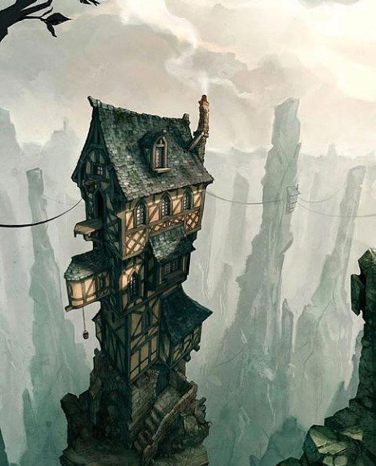 Casa medieval/fantasy