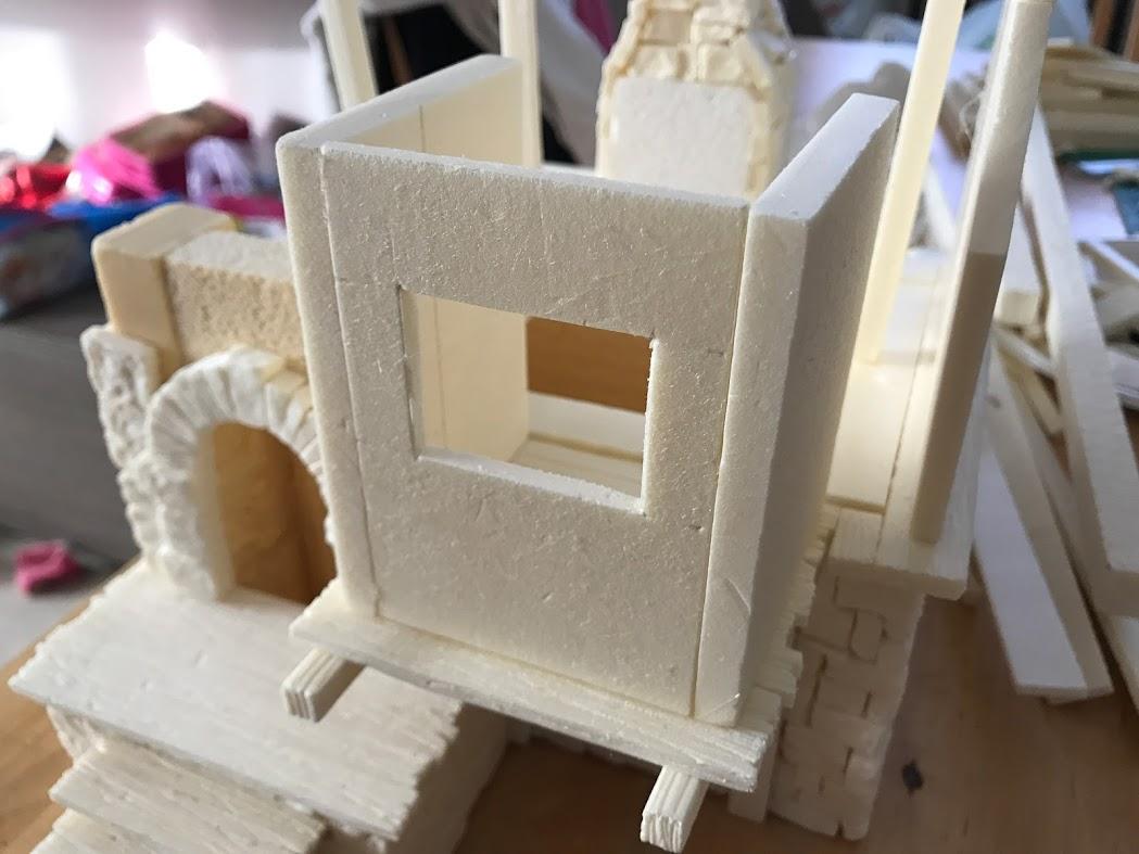 Costruzione di una casa medieval fantasy