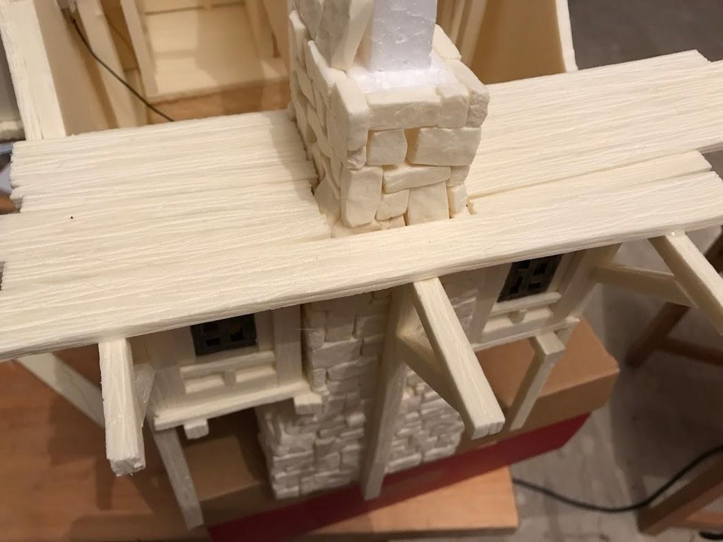 tutorial costruzione townhouse modellismo e diorama fantasy