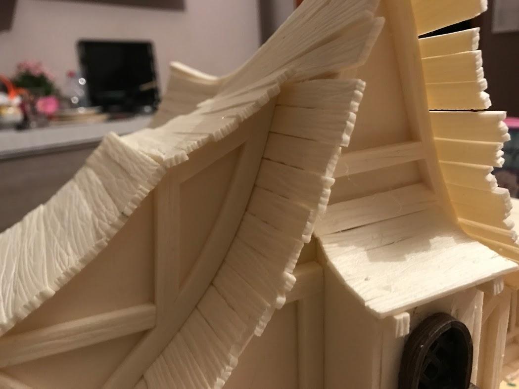 tetto della townhouse modellismo e diorama fantasy