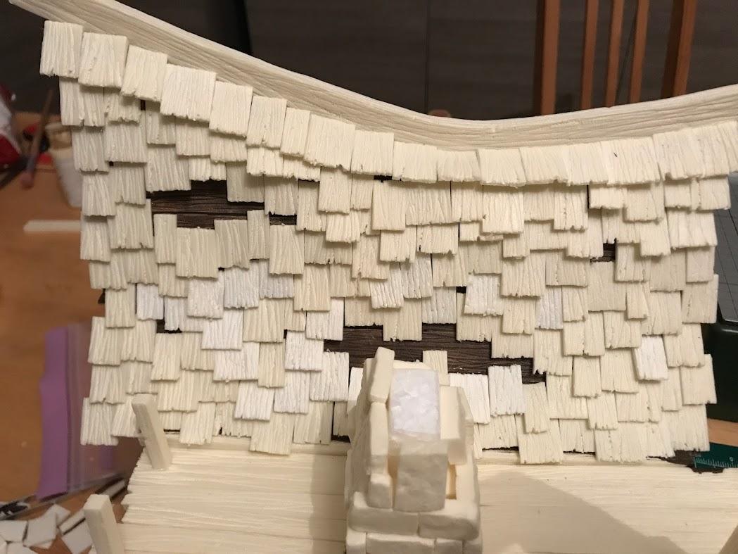scandole in legno per townhouse modellismo e diorama fantasy