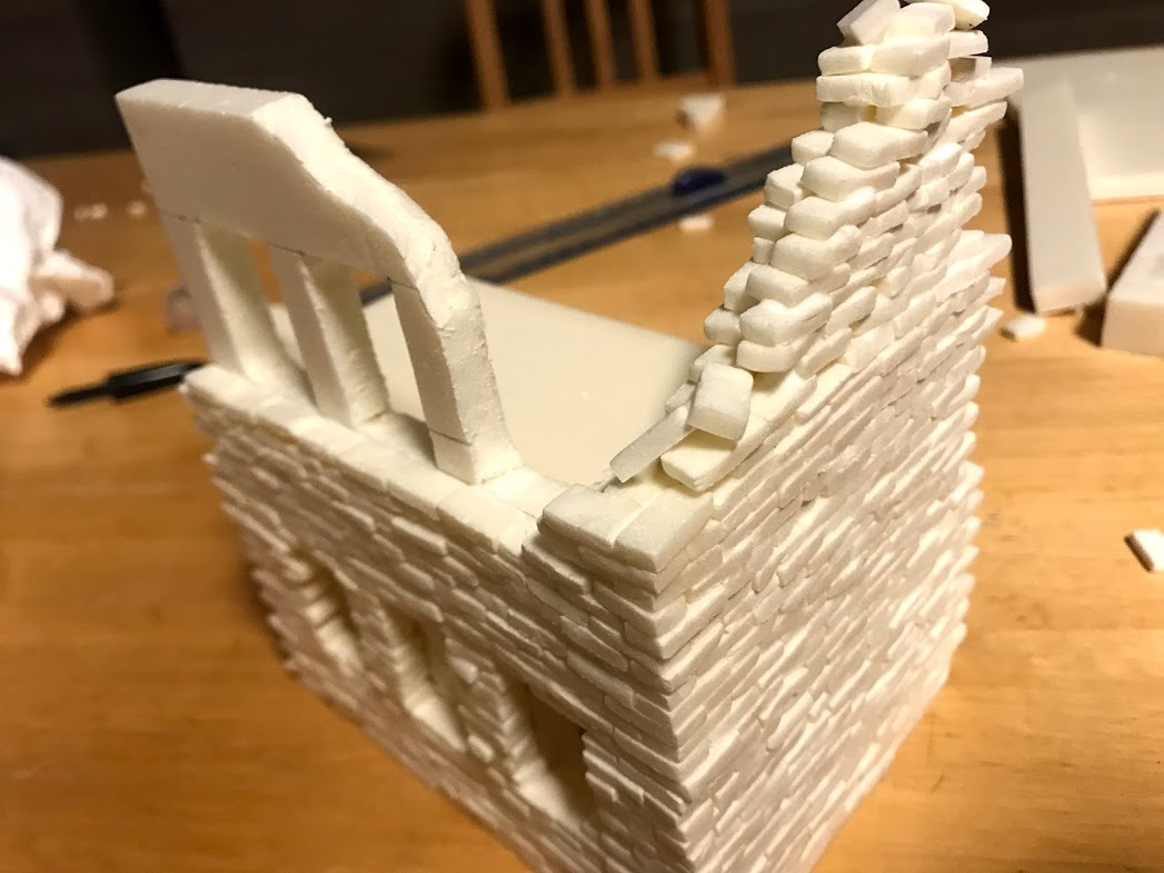 Tutorial costruzione di un diorama fantasy Sci-fi