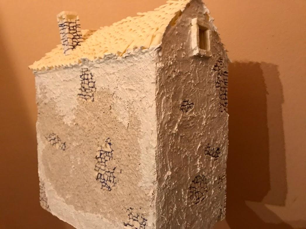 costruzione di un rudere di campagna per il presepe