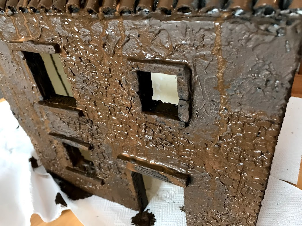 preparazione alla pittura del casolare