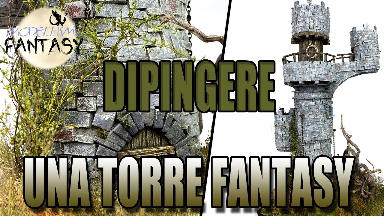 Tutorial pittura di una torre in stile fantasy